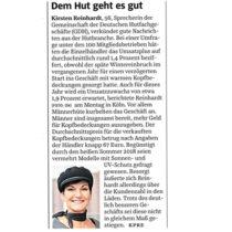 Kirsten Reinhardt in der SZ: Dem Hut geht es gut!